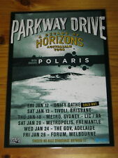 PARKWAY DRIVE - 2018 DECADE OF HORIZONS Australia Tour Poster Laminated Official