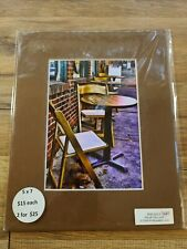 5x7 Matted Print Of Ellicott City Lunch