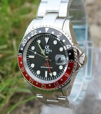 Alpha GMT Master men's mechanical automatic watch red black bezel