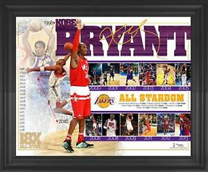 """Kobe Bryant Los Angeles Lakers Framed 16"""" x 20"""" ASG Commemorative Collage"""