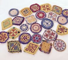 Meduim Kuchi Afghan Tribal Beaded Dress Medallion 50 Wholesale Medals Job lot