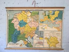Antique European Maps Wall Map 1960 1969 Date Range And Atlases Ebay