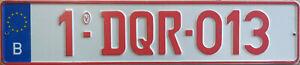 Belgium Belgian License Plate - replica