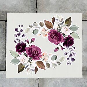 2 x Rose Flower Vinyl Stickers Decals Wall MacBook Laptop iPad - SKU6874