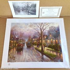 DBL-SIGNED Thomas Kinkade FOOTHILL HOMETOWN CHRISTMAS Paper Lithos 16x20 GP COA