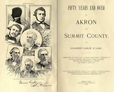 1892 AKRON & SUMMIT County Ohio OH, History and Genealogy Ancestry DVD B14