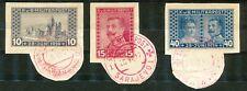 Bosnië en Herzegowina 121 - 123 A gebruikt (3) met rood stempel; op papier