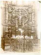 Espagne, Burgos Catedral, altar Vintage albumen print Tirage albuminé  17x22