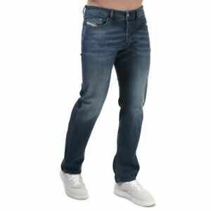 Men's Diesel Waykee Button Fly Straight Leg Jeans in Blue