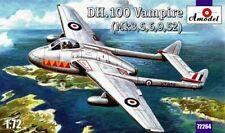Amodel 1/72 De Havilland dh.100 Vampiro mk.3/5/6/9 / 52 #72264