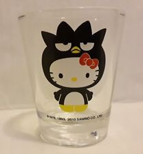 HTF Sanrio 50th Anniversary Hello Kitty Shot Glass Badtz Maru 2010 Rare