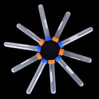 10X tubo de centrífuga de plástico TestTube plano casquillo redondo infer*QA