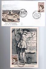 1962 - FDC + CP 1°JOUR**EDME BOUCHARDON-SCULPTEUR**TIMBRE Yt.1346