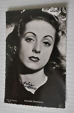 -DANIELLE DARRIEUX vintage POSTCARD 1940s Cinema Actrice  -