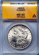 1899 $1 Silver Morgan Dollar MS 60 Details 4171279 ANACS Certified + Bonus