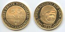 """GX1053 - Goldmedaille 50 Lunare 1969 """"Das erste Mondgeld"""" Mondlandung Apollo 11"""