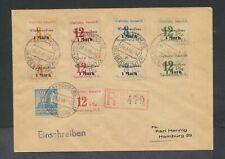 Germany Spremberg 1946 Gebuhr Bezahlt 1 Mark overprint set on registered cover