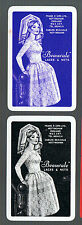 """Playing Swap Cards 2  GENUINE VINT ADVERTS FOR  """"LACES & NETS """"  RETRO LADY #244"""