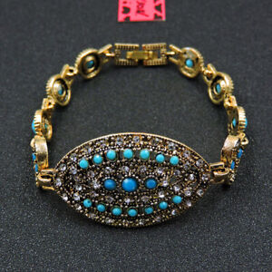 Betsey Johnson Fashion Jewelry Elegant Blue Gemstone Bangle Bracelet
