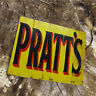 Pratt's Motor Spirit Advert VINTAGE ENAMEL METAL TIN SIGN WALL PLAQUE