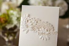 LASER CUT INVITATIONS 'FLORAL EMBOSSED' INC'S ENVS, CARD & PAPER INSERTS