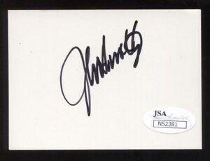 John Smoltz Signed Card JSA Autographed Vintage Baseball Hall of Fame