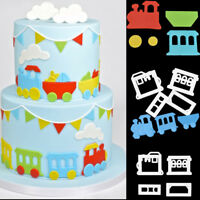 Small Train Fondant Cake Decorating Mold Cookie Cutter Mould Sugarcraft Baking