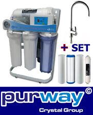 PUR Booster 5 Stufen 400 GPD Direct flow Osmoseanlage + ERSATZFILTERSET