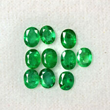 5x4 mm Emerald Natural Lustrous Rich Green Oval Cut Lot 3.43 Cts Zambia Gemstone