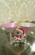 💟💟two tone glitter martini glasses set of 6💟💟