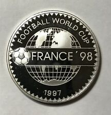 1997 500 TUGRIK - MONGOLIA - WORLD CUP FRANCE 1998 - PROOF - SILVER - Lot#A385