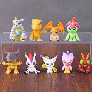 Figures Decoration Toys Dolls 9pcs/set Digimon Adventure Agumon Gabumon Palmon