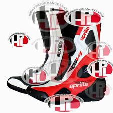 New Motorbike Race Leather Aprilia RSV4 Boots Motorcycle Aprilia shoes Tuono v4