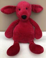 Jellycat Bonbon Puppy Dog Comforter Baby Soft Toy Red Pink Striped Rare Retired
