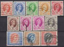 g791) Rhodesia & Nyasaland 1954/56. Used. Small Collection. Royalty. c£10+