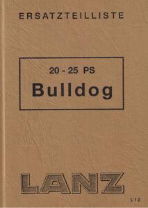 Ersatzteilliste Lanz Acker-,Ackerluft-,Verkehrs Bulldog 20PS 25PS BA15154 01/53