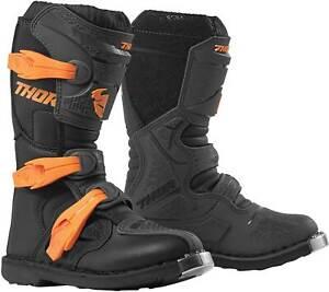 Thor Youth Blitz XP Boots - MX Motocross Dirt Bike Off-Road ATV Boys Girls Gear