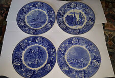 Four Wedgwood American War of independence  Blue & White Crump & Low Boston