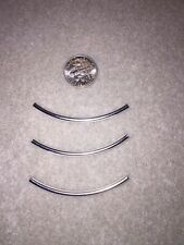 Silver Plated Curved Tube Beads 50mm lot of 20
