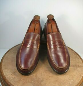 Cole Haan  Brown Leather Penny Loafers Rubber Soles size 10M