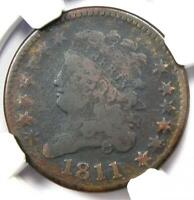 1811 Classic Head Half Cent - NGC Good Details - Rare Key Date Certified Coin!