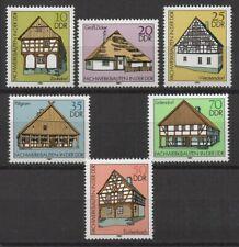Germany DDR 1981 Sc# 2199-2204 Mint MNH frame house farm restaurant stable stamp