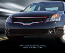 Fits 2007-2009 Nissan Altima Black Billet Grille Grill Upper