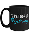 I'd Rather Be Skydiving Tea Cup Funny Coffee Mug Gift for Skydiver