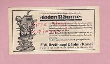 Kassel, Pubblicità 1928, F. W. larga principale & figlio fabbrica assistente strumenti.