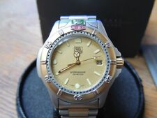 Tag Heuer Professional 200M Herrenuhr Stahl-Gold Datum Ref. 995.406K Box+Papiere