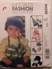 McCALL'S M5539 INFANTS' & TODDLERS' HATS, MITTENS AND BOOTIES SIZE XS-L