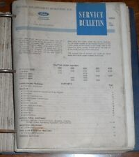 41 Ford Tractor 1965 - 1968 Service Bulletins