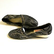Merry Mules Women's Vintage House Slipper Shoes Size 5.5 M Metallic Tapestry