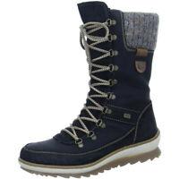 Remonte Damen Schuhe Stiefel Stiefelette Boots Schnürer R4371-02 schwarz TEX